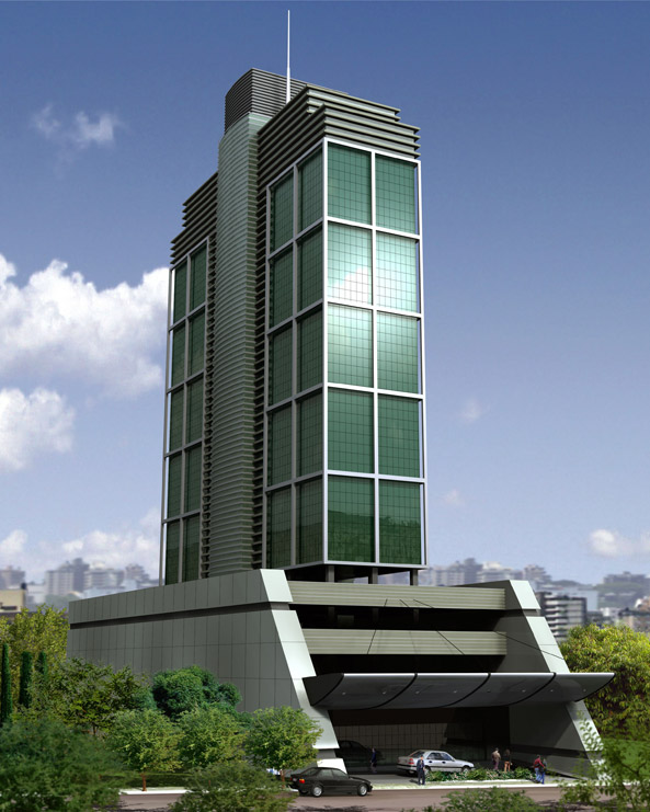 <strong>Edifício Corporate Station/Ivo Rizzo</strong><br> 3.000m² de piso elevado<br><strong> Arquitetura: Pedro Gabriel</strong>